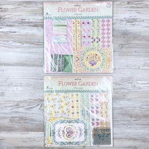 Vintage '04 Flower Garden Scrapbooking Paper Pack